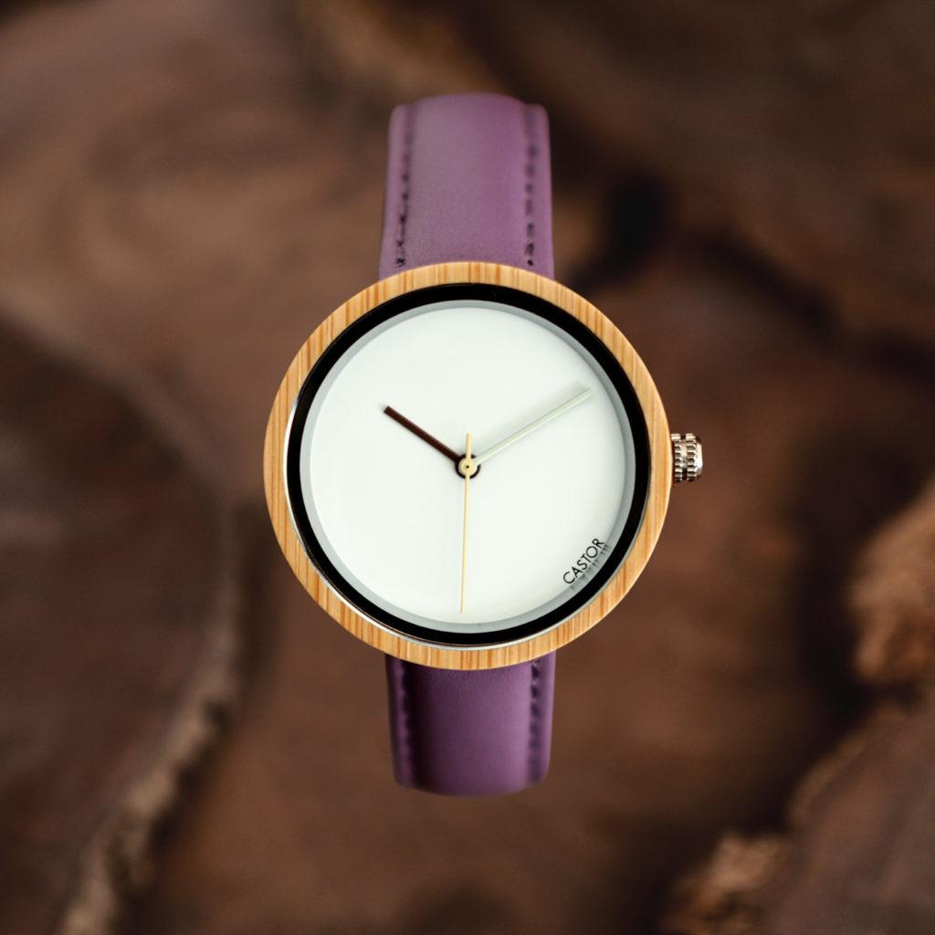 Reloj-Madera-Castor-Luz-Violeta
